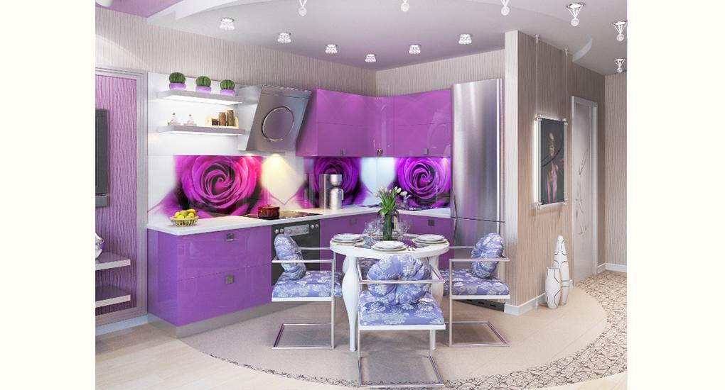 Дизайн кухни для девушки фото